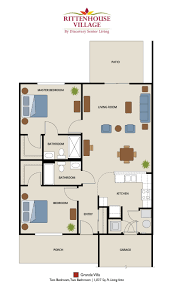 senior living floor plans rittenhouse village at michigan city