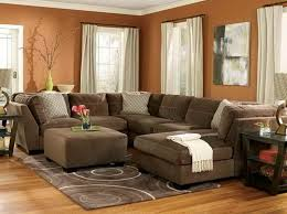 paint colors for living room with brown couch living room