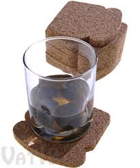 toastit coasters set of 8 cork coasters that look like bread slices