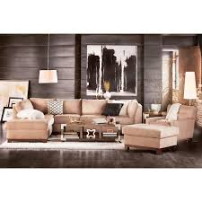 soho 2 piece sectional with left facing chaise and ottoman