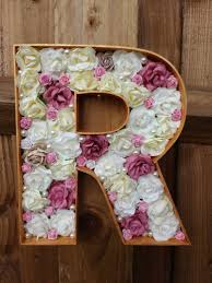 6 flower filled letters mr u0026 mrs wedding sign wedding decor