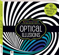 kaleidoscope colouring optical illusions colouring art