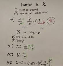 fractions decimals and percentages worksheets number line with