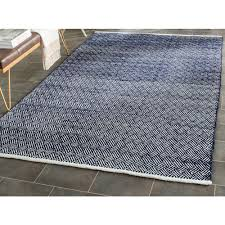 safavieh cowhide rugs safavieh boston navy 5 ft x 8 ft area rug bos680d 5 the home depot