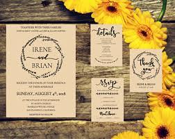 Diy Wedding Invitation Templates Rustic Wedding Invitation Template Etsy