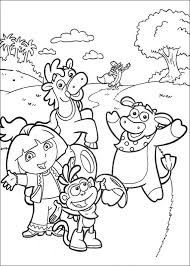 awesome free dora explorer free coloring pages colouring