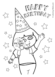 dora coloring pages for toddlers dora happy birthday coloring pages for kids printables