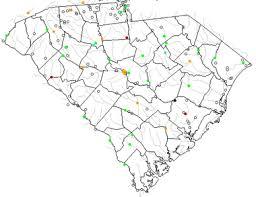 road map of south carolina map of south carolina lakes streams and rivers
