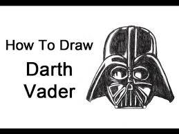 how to draw darth vader head helmet youtube