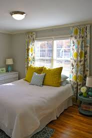 White And Yellow Bedroom Blue And Yellow Bedroom House Living Room Design