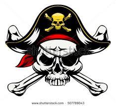 skull crossbones jolly roger sign stock vector 507789043