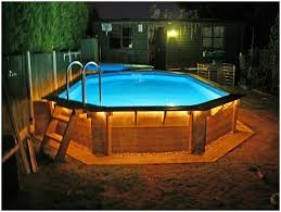 backyards awesome cool above ground pool deck plans ideas slides