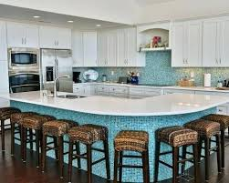 Blue Floor L Blue Mosaic Backsplash Coastal L Shaped Wood Floor And