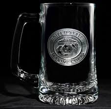 engraved barware marine corps beer mug personalized glasses engraved barware at