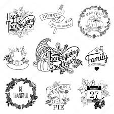 happy thanksgiving lettering items stock vector masha tace