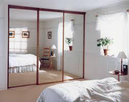 Wood Sliding Closet Door by Home Design Wood Sliding Closet Doors With Mirrors Sloped