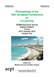 proceedings of the 12th european conference on e learning volume