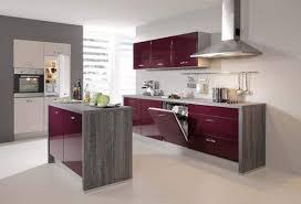 sconto küche zweizeilige küche mit insel front aubergine hochglanz sconto