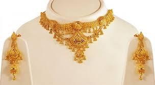 gold choker necklace sets images 22kt gold choker necklace set ajns62431 22k gold indian design jpg