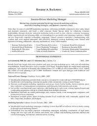 resume summary exles marketing marketing manager resume summary sle sevte