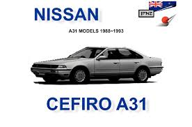 nissan cefiro nissan cefiro a31 car owners manual 1988 1993