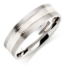 palladium wedding band men s palladium and 9ct white gold wedding ring 0007302