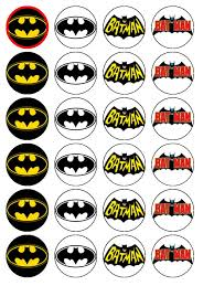batman cake toppers 24 x batman logo sign party edible wafer rice paper birthday cake