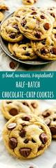 easiest half batch chocolate chip cookies one bowl no mixer