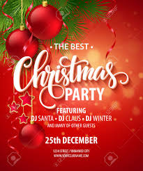 vector christmas party design template royalty free cliparts