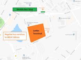 Ikea World Map Ikea Tebrau Transport Map Larkin Land Transport Guru
