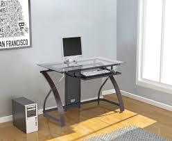 Glass L Shaped Computer Desk Best Z Line Blaire Glass L Shaped Computer Desk All About House