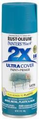 rust oleum painter u0027s touch 2x satin lagoon spray paint 12 oz