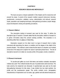 research design thesis example research instruments in thesis writing