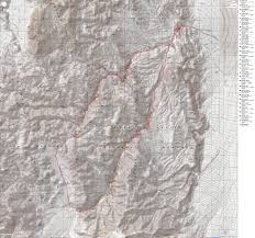 Death Valley Map Cottonwood Dead Horse Marble Canyons Backpack Loop Bicycling And