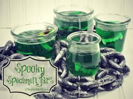 Spooky Halloween Jello Specimen Jars