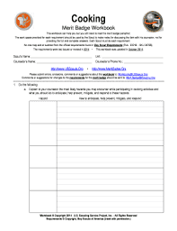 cooking merit badge worksheet answers free pamphlet template to download in word pdf editable