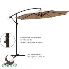 Coolaroo Umbrella Review by Amazon Com Cobana 10 Ft Patio Umbrella Offset Hanging Umbrella