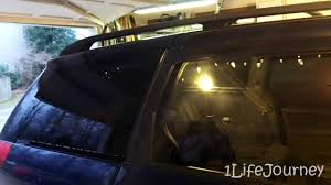 Static Cling Window Tint Van Build Part 9 5 Removable Window Tint And Modifying The