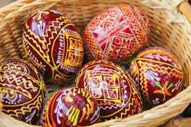 ukrainian easter eggs for sale urych lviv region ukraine july 1 2014 easter