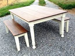 farmhouse kitchen table with bench 2017 and ana white rustic farm