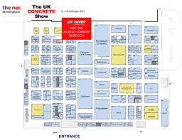 Nec Birmingham Floor Plan Invitation Uk Concrete Show 2017 Poraver