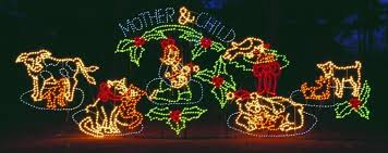 commercial nativity for light shows and municipalities