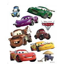 disney cars lightning mcqueen and martin giant stickers great