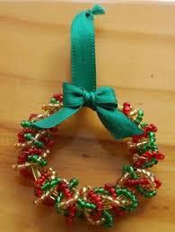 mini beaded wreath wreaths craft free and diy decoration