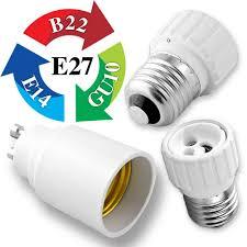 Led Lights Bulbs by Gu10 E27 E14 B22 Bulb Adapter Lamp Extender Socket Converter Shop