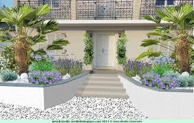 modele de jardin moderne fleurir une façade de maison exemple avec plan
