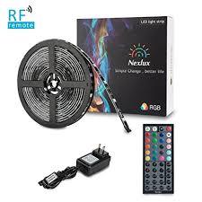 nexlux led light strip amazon com led light strip nexlux 16 4ft waterproof ip65 5050 smd