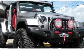 round led lights for jeep jeep wrangler led lighting and mounts auxbeam