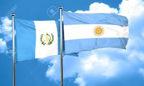 Guatemala Flag Guatemala Flag With Argentine Flag 3d Rendering Stock Photo