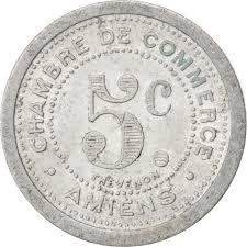 chambre des commerces amiens 85287 amiens chambre de commerce 5 centimes 1922 elie 10 6
